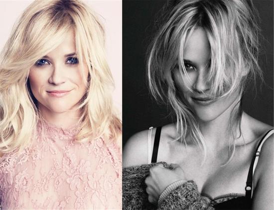 A atriz Reese Witherspoon em ensaio para a revista Marie Claire de outubro