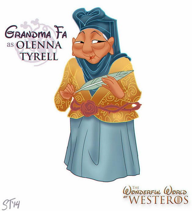 Princesas Disney como Game of Thrones
