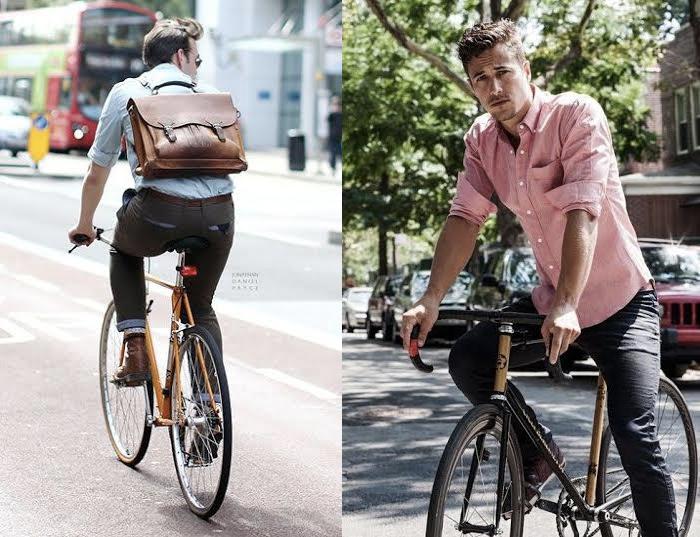 moda e bicicleta
