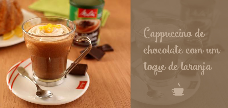 cappuccino de chocolate com laranja