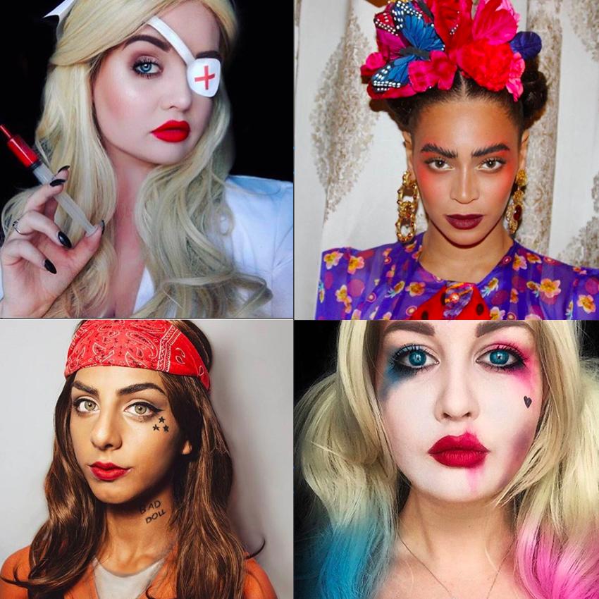 Maquiagens de Halloween cheias de estilo
